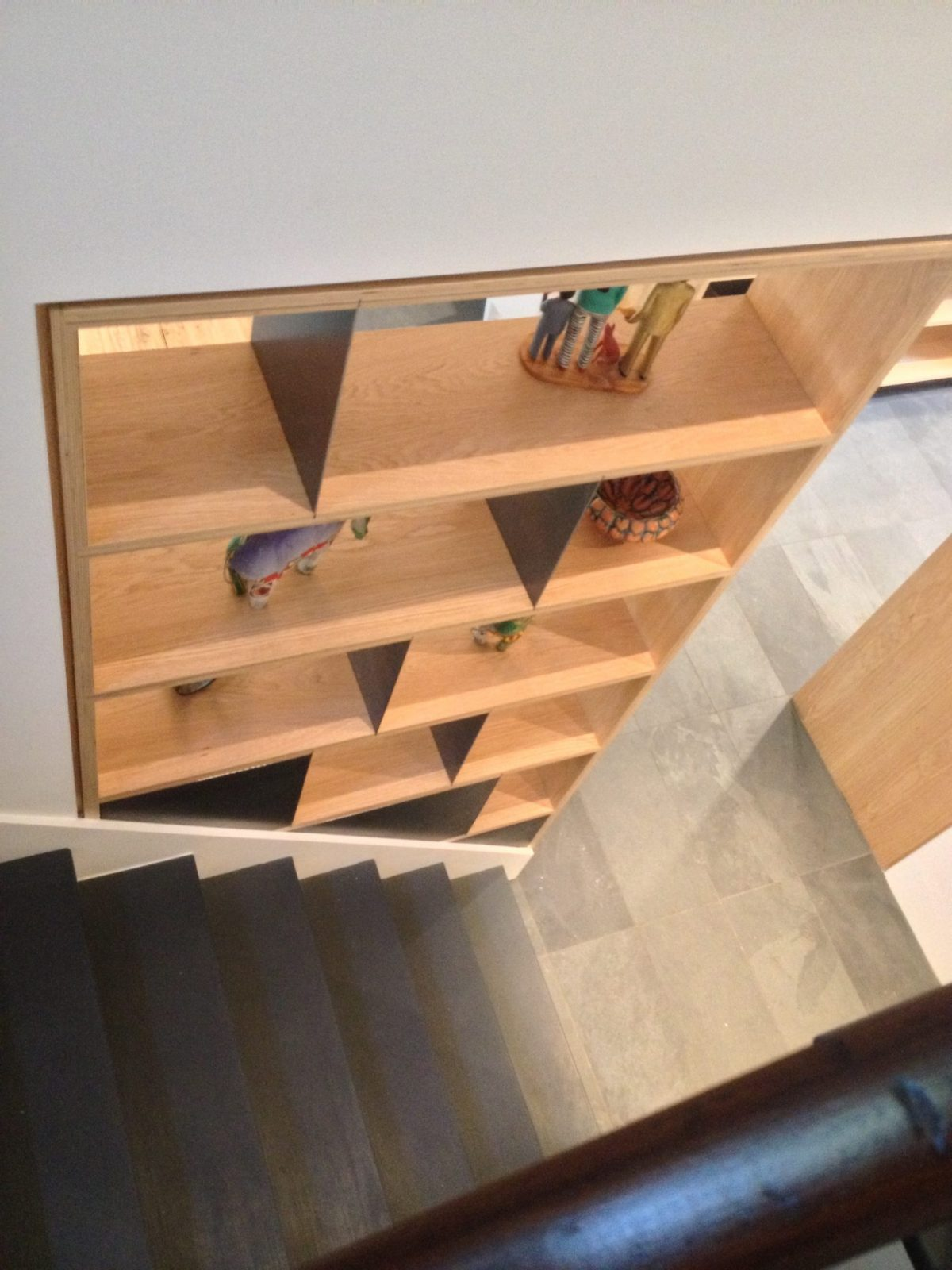 Oak and Steel shelving